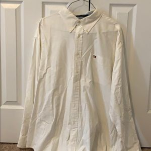 White dress button down